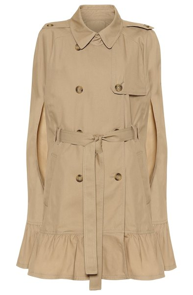 Red Valentino cotton-blend trench coat cape in beige