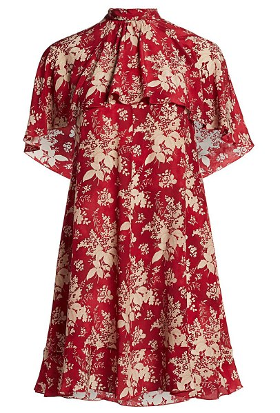 Red Valentino floral dress in red