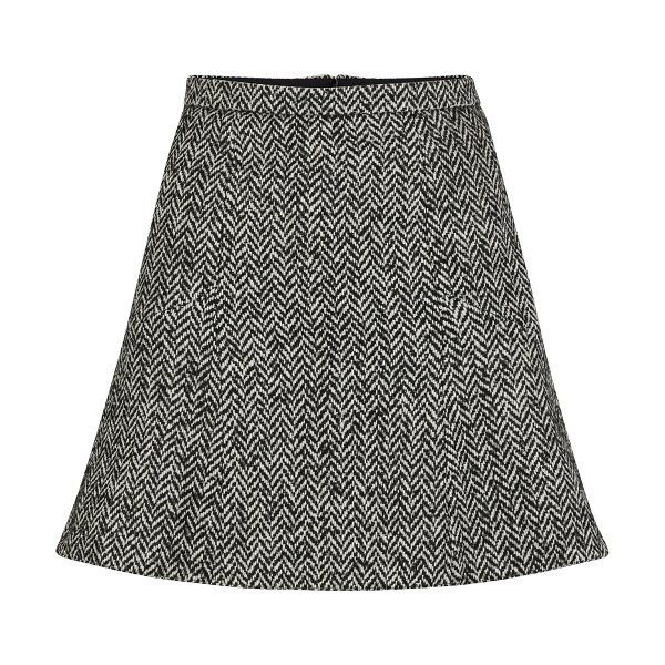 Red Valentino Herringbone mini skirt in nero/black