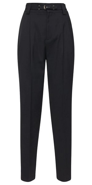 Red Valentino High waist gabardine pants in black