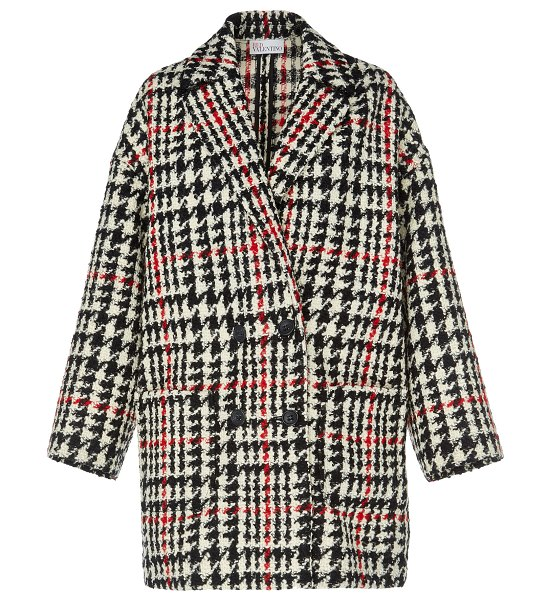 Red Valentino houndstooth wool coat size: 40 in plaid