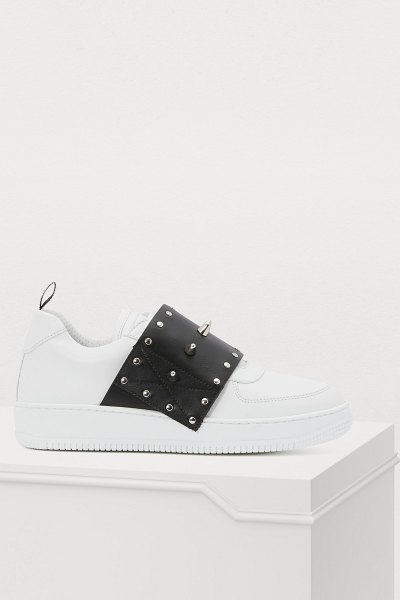 Red Valentino Punk sneakers in latte/nero
