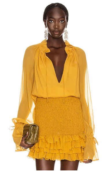 Redemption pittore creponne top in mustard