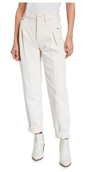 RE/DONE 40s Zoot Pleated Ankle Jeans in vintage white 1