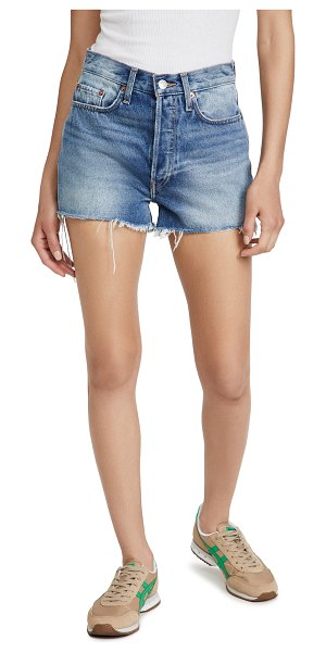 RE/DONE 70s high rise shorts in light vintage
