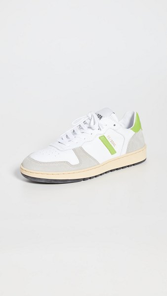 RE/DONE 80s basketball sneakers in white/lime