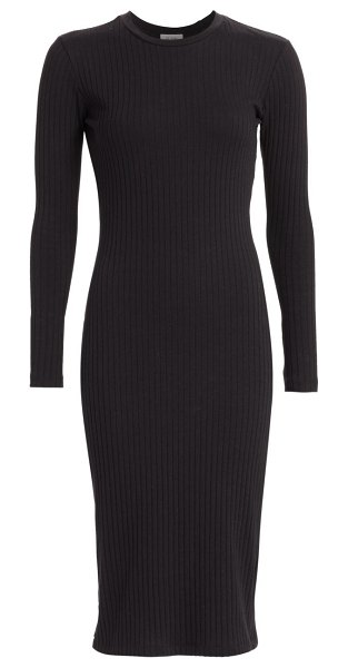 RE/DONE 90s ribbed long-sleeve dress in black
