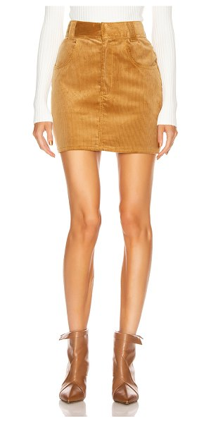 RE/DONE 90's ultra high rise western pocket skirt in camel