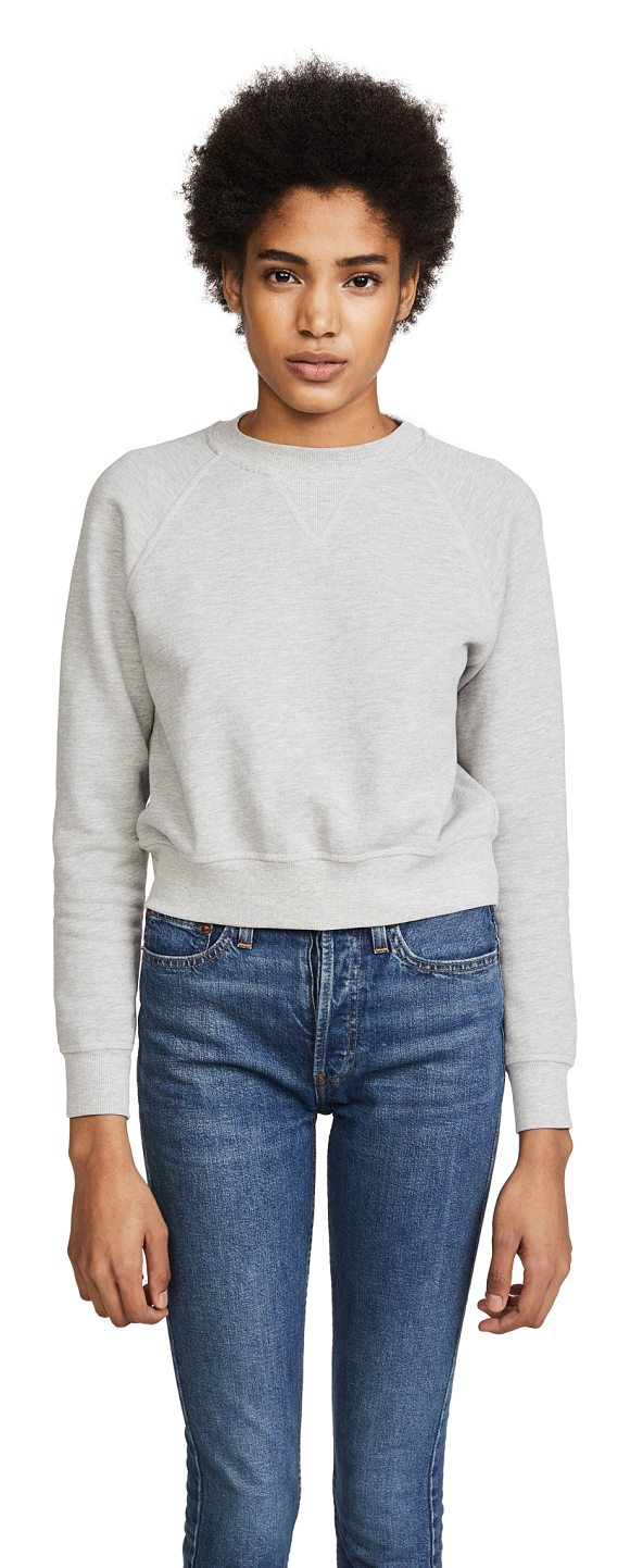 RE/DONE classic crew neck sweatshirt - A heathered RE/DONE sweatshirt in a classic, crew-neck...