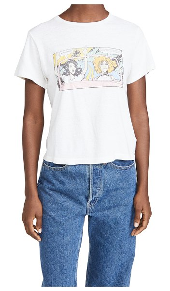 """RE/DONE classic """"roadtrip"""" tee in vintage white"""