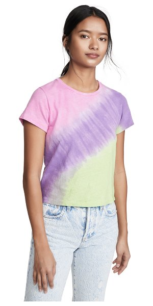 RE/DONE classic tee in pink/purple/lime ombre