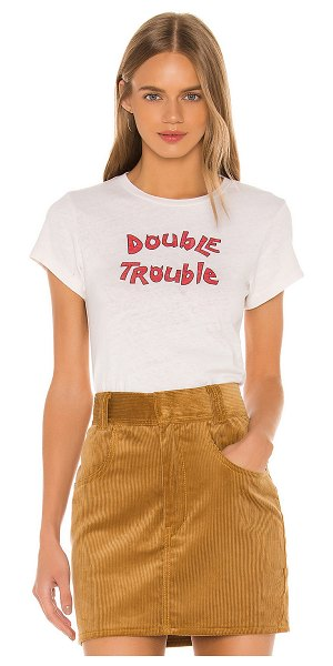 RE/DONE double trouble tee in vintage white