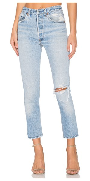 RE/DONE levis high rise ankle crop in indigo