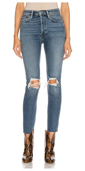RE/DONE high rise ankle crop in dusk destroy