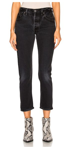 RE/DONE levi's high rise ankle crop in black