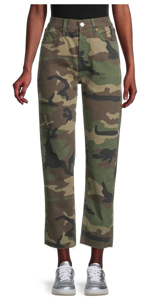 RE/DONE High-Rise Cropped Camo Pants in camo