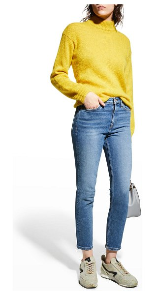 RE/DONE Mid-Rise Ankle Crop Jeans in worn vintage