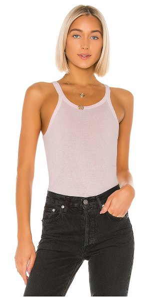 RE/DONE ribbed tank in pink