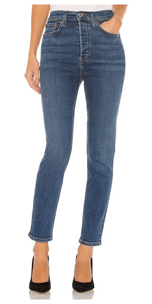 RE/DONE ultra high rise ankle crop. - size 24 (also in medium fade