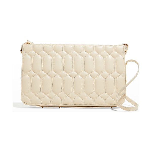 Ree Projects Do Quilted Napa Shoulder Clutch Bag in chalk