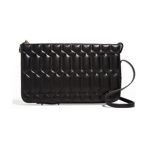 Ree Projects Do Quilted Napa Shoulder Clutch Bag in black