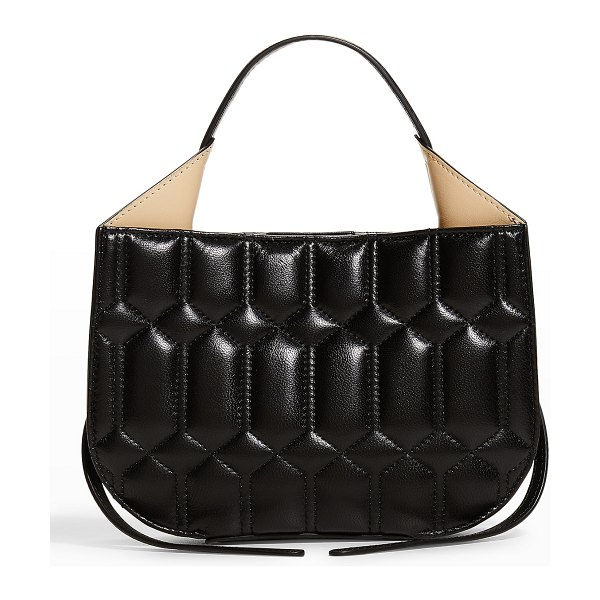 Ree Projects Helene Mini Quilted Hobo Bag in black