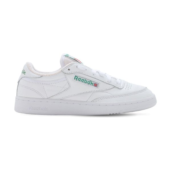 Reebok Classics Club c 35th anniversary sneakers in white,green
