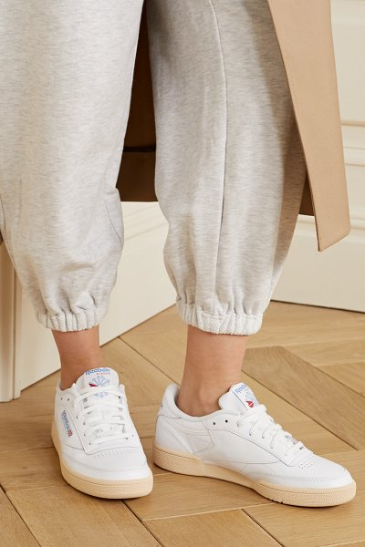 Reebok club c 85 leather sneakers in white