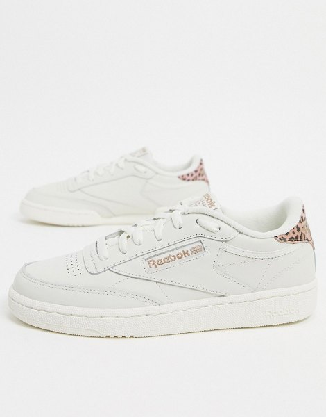 Reebok club c 85 trainers in white in white