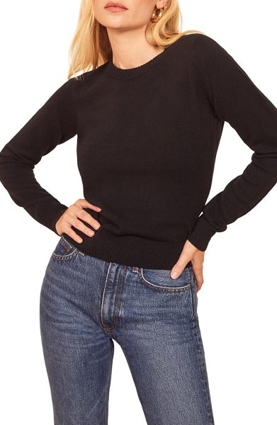REFORMATION cashmere blend sweater in black