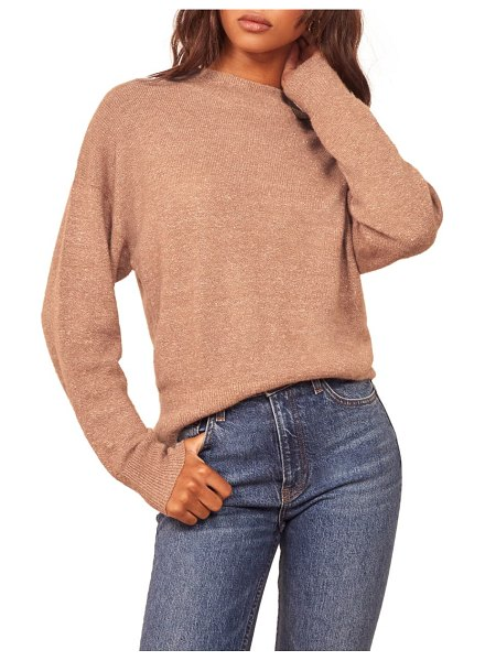 REFORMATION elle sweater in toffee