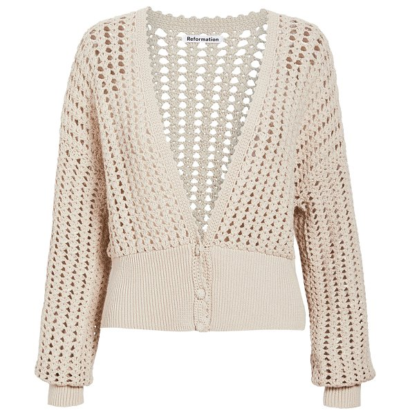 REFORMATION erin sweater in natural