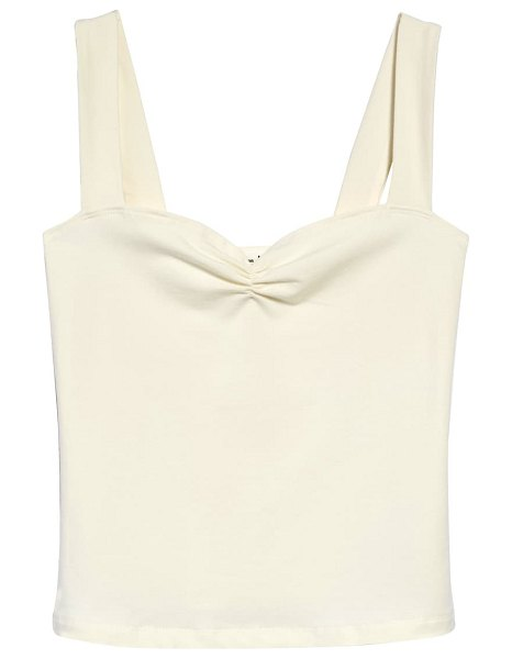 REFORMATION kelley sleeveless top in ivory