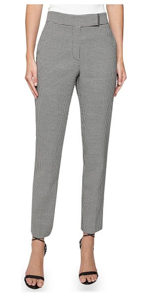 REISS arlo puppytooth check trousers in monochrome