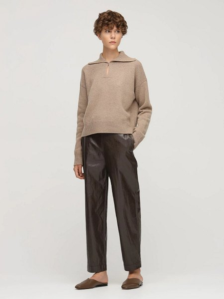 Rejina Pyo Tate recycled cashmere sweater in beige