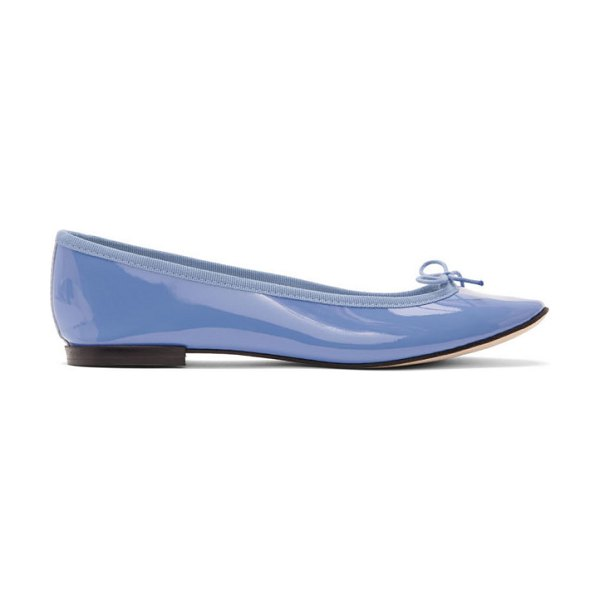 Repetto blue patent cendrillon ballerina flats in 1289 blue