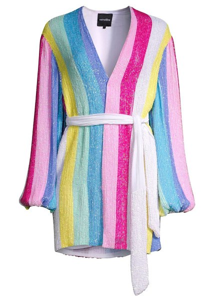 Retrofête gabrielle unicorn robe dress in unicorn stripes