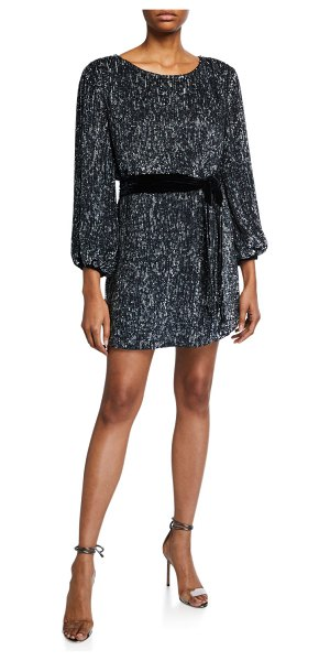 retrofete Grace Sequined Cocktail Dress in gray