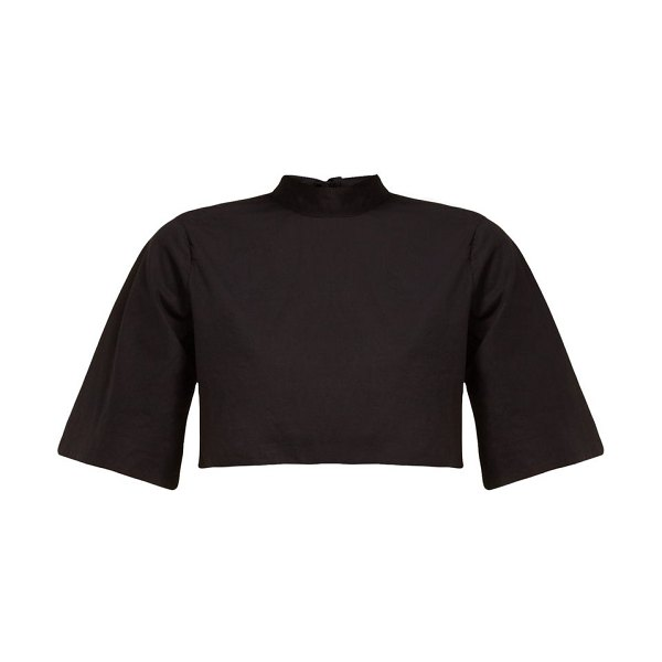 Rhode audrey cropped cotton top in black