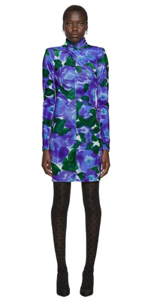 RICHARD QUINN floral dress in blue