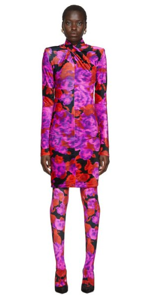 RICHARD QUINN floral dress in red