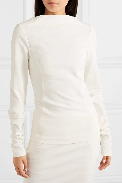 Rick Owens cotton-blend crepe top in white