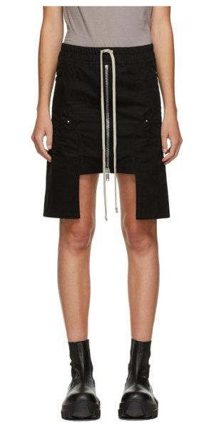 Rick Owens DRKSHDW black cargo pocket miniskirt in 09 black