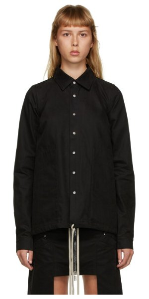 Rick Owens DRKSHDW black cotton shirt jacket in 09 black