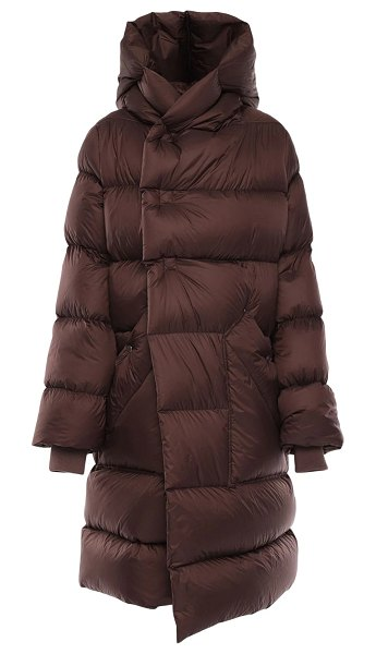 Rick Owens Oversize nylon puff down coat in brown