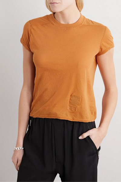 Rick Owens small level cotton-jersey t-shirt in orange