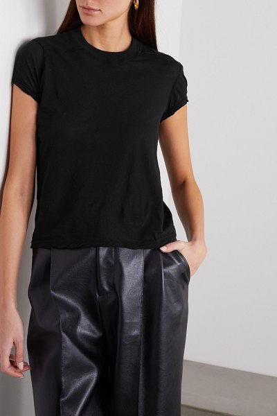 Rick Owens small level cotton-jersey t-shirt in black