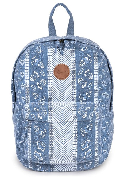 Rip Curl navy floral beach canvas backpack in slate blue