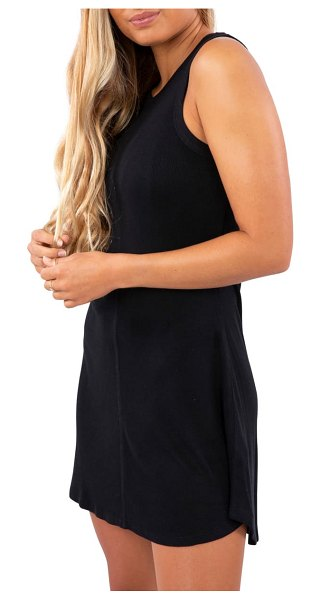 Rip Curl surf essentials cover-up dress in black