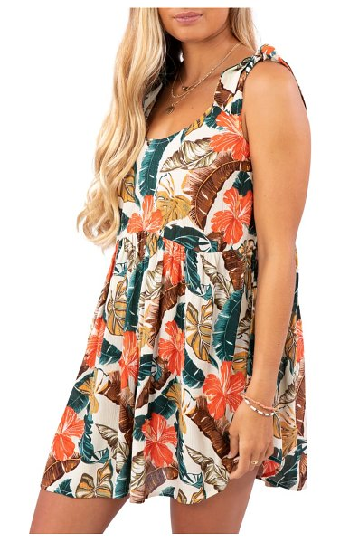 Rip Curl tropic coast cover-up dress in hot coral